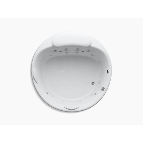"""White 66"""" Drop-in Whirlpool With Chromatherapy and Heater Without Jet Trim"""