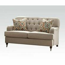 ACME Alianza Loveseat w/2 Pillows - 52581 - Beige Fabric