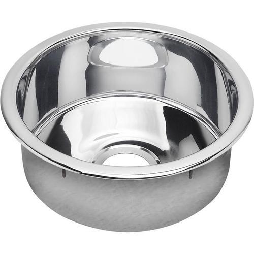 """Elkay - Elkay Stainless Steel 16-3/8"""" x 16-3/8"""" x 7"""", Single Bowl Dual Mount Bar Sink Mirror"""