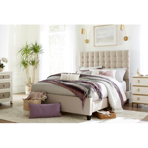 Bergen Queen Bed, Sandstone Linen
