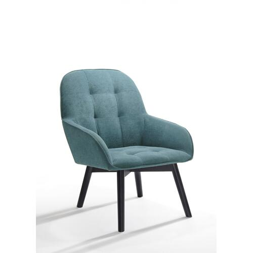 VIG Furniture - Modrest Ruben Modern Teal & Black Accent Chair & Ottoman