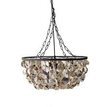 "20"" Round x 9-3/4""H Oyster Shell Chandelier"