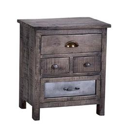 See Details - Nightstand - Gray Finish
