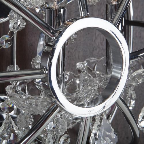 Highlight Crystal Globe Wall Sconce