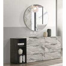 View Product - Nova Domus Maranello - Modern Grey Faux Marble Mirror