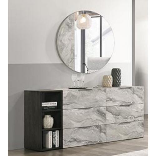 VIG Furniture - Nova Domus Maranello - Modern Grey Faux Marble Mirror