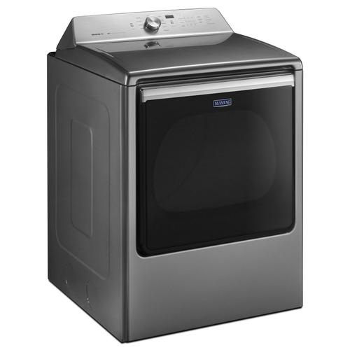 Maytag - 8.8 cu. ft. Extra-Large Capacity Gas Dryer with Advanced Moisture Sensing Metallic Slate
