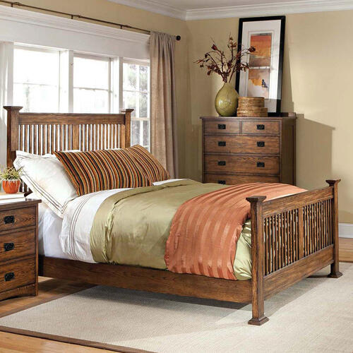 Oak Park Slat Bed  Mission