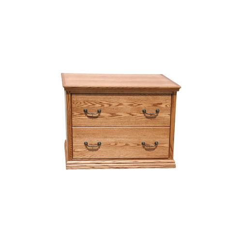 "O-T650 Traditional Oak 2-Drawer Locking Lateral File Cabinet, 38""W x 21""D x 30""H"