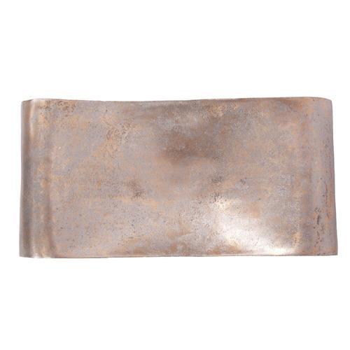 Howard Elliott - Antiqued Gold Aluminum Scroll Tray, Large
