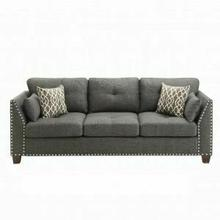 ACME Laurissa Sofa w/4 Pillows - 52405 - Light Charcoal Linen