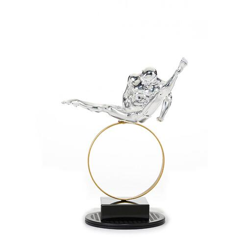 Gallery - Modrest SZ0216 - Modern Silver Gymnast-C Sculpture