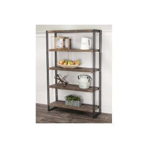 Cramco Furniture - Dawn-reclaimd Oak/blk Bookcase