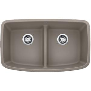 Valea® Equal Double Bowl With Low-divide - Truffle