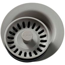 """View Product - Elkay Polymer 3-1/2"""" Disposer Flange with Removable Basket Strainer and Rubber Stopper Greige"""