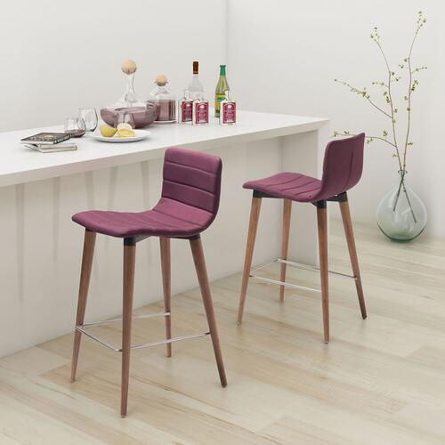 Zuo Modern - Jericho Counter Chair Purple