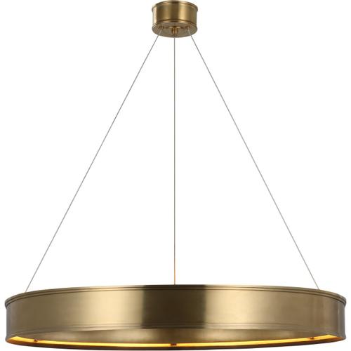 Visual Comfort - Chapman & Myers Connery LED 40 inch Antique-Burnished Brass Ring Chandelier Ceiling Light