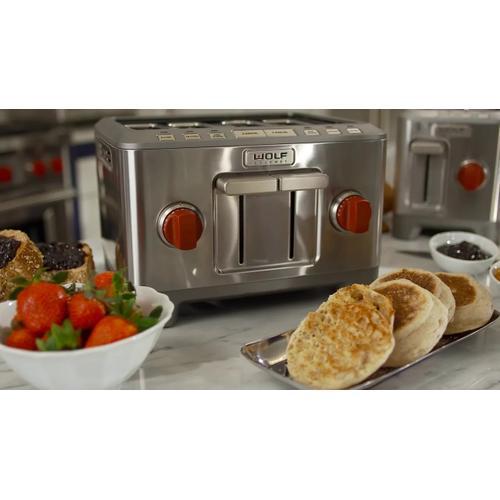 4 Slice Toaster Red Knob