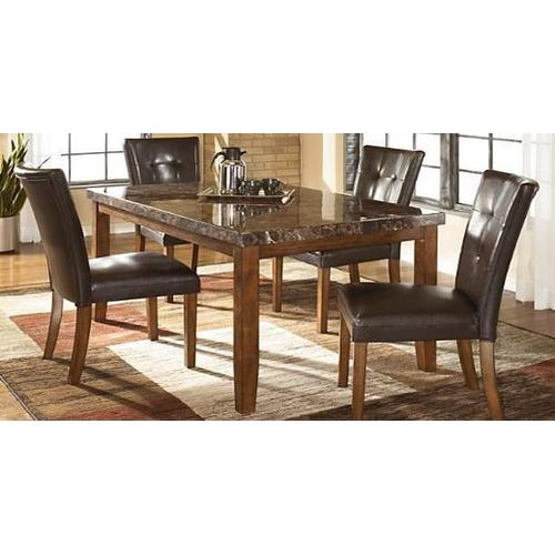 """Gallery - Brown Laminate Top """"Boat-Shape"""" Table and Brown Uph Chairs"""