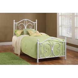 Ruby Metal Twin Bed - White