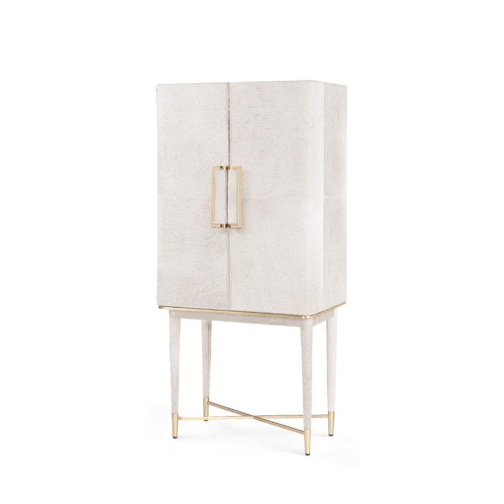 Florian Tall Bar Cabinet, White