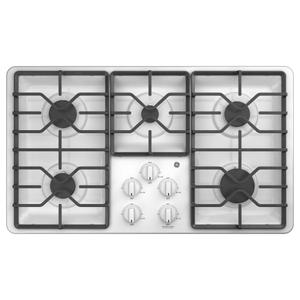 """GE®36"""" Built-In Gas Cooktop with Dishwasher-Safe Grates"""