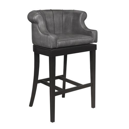 Hillsdale Furniture - Broadland Wood Memory Return Swivel Bar Height Stool, Black