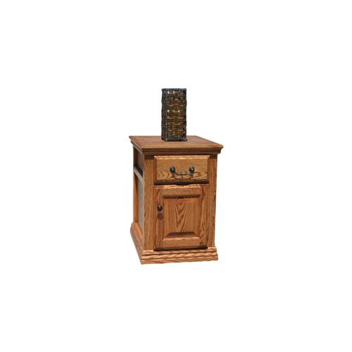"O-T250 Traditional Oak 1-Drawer 19"" End Table"