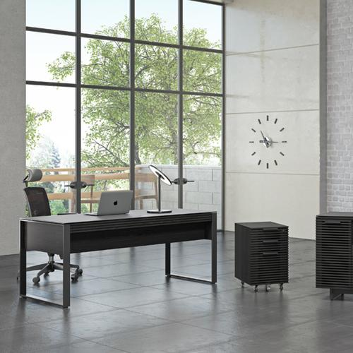 Mobile File Pedestal 6507 in Charcoal Stained Ash