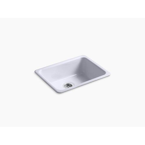 "Lavender Grey 24-1/4"" X 18-3/4"" X 8-1/4"" Top-mount/undermount Single-bowl Kitchen Sink"