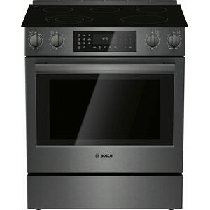 Bosch800 Series Electric Slide-in Range 30'' Black Stainless Steel HEI8046U