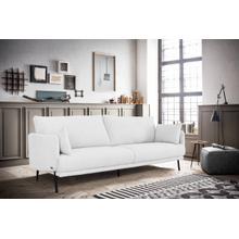See Details - Divani Casa Higgins - Modern White Fabric Loveseat