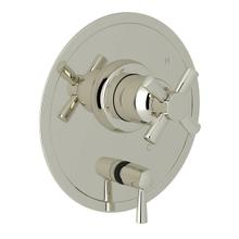 Holborn Pressure Balance Trim with Diverter - Polished Nickel with Cross Handle