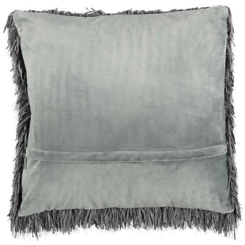 "Shag Tl048 Charcoal 20"" X 20"" Throw Pillow"