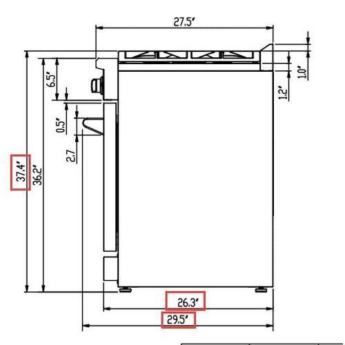 "ALTA QUALITA - Professional 30"" Freestanding Gas Range"