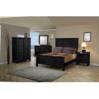 Sandy Beach Black Queen Four-piece Bedroom Set Product Image