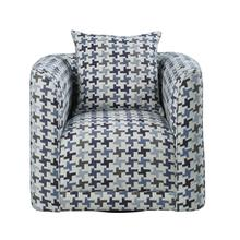 Swivel Chair with 1 Pillow