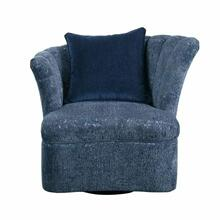 ACME Kaffir Chair w/1 Pillow (Swivel) - 53272 - Blue Fabric