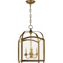 E. F. Chapman Arch Top 4 Light 15 inch Antique-Burnished Brass Foyer Pendant Ceiling Light