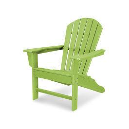 Polywood Furnishings - South Beach Adirondack in Vintage Lime