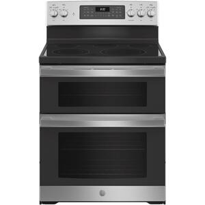 """GE®30"""" Free-Standing Electric Double Oven Convection Range"""