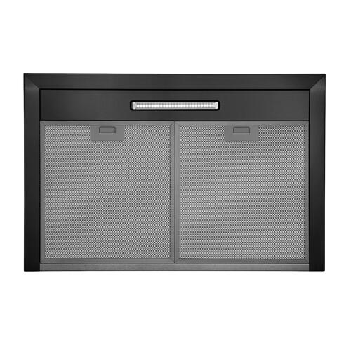 Broan® Elite EW43 Series 30-Inch Convertible T-Style Wall Mount Chimney Range Hood, 460 Max Blower CFM, Black Stainless