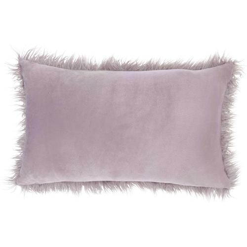 "Faux Fur Bj101 Lavender 14"" X 24"" Lumbar Pillow"