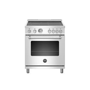 30 inch Induction Range, 4 Heating Zones, Electric Oven Stainless Steel Product Image