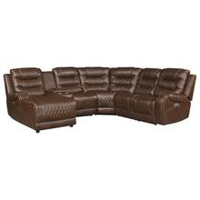 View Product - 6-Piece Modular Power Reclining Sectional with Left Chaise