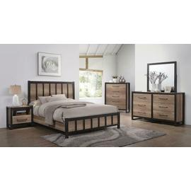 Edgewater Industrial Weathered Oak Queen Five-piece Set