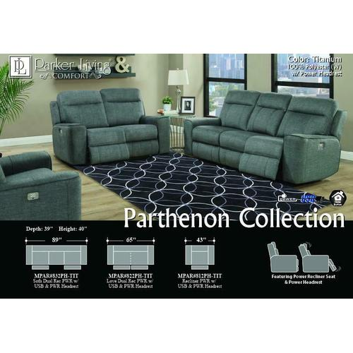 PARTHENON - TITANIUM Power Sofa
