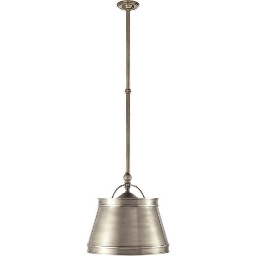 E. F. Chapman Sloane 2 Light 16 inch Antique Nickel Hanging Shade Ceiling Light