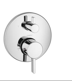 Chrome Thermostatic Trim S with Volume Control Product Image