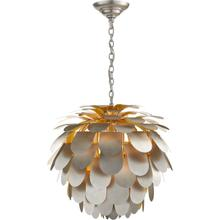 View Product - E. F. Chapman Cynara 1 Light 29 inch Burnished Silver Leaf Chandelier Ceiling Light, Large